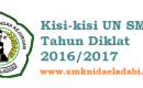 kisi-kisi UN SMK 2017